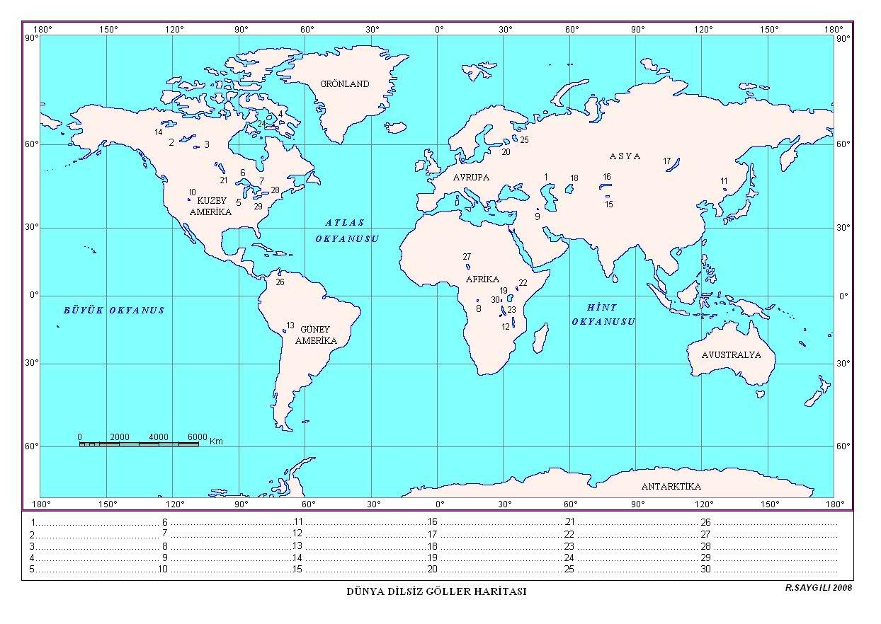 dünya dilsiz göller haritaları